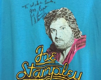 Joe Stampley Autographed T-Shirt ~ 1980s Vintage Country