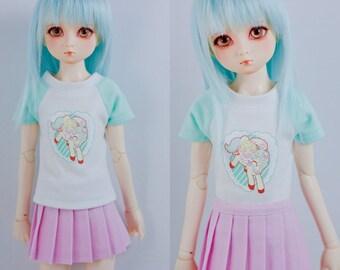 Slim MSD Minifee or SD BJD Shirt - Bunny and Unicorn