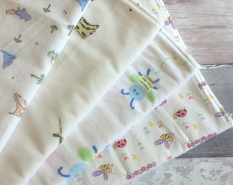 Wash Cloth / Burp Cloths / Baby Cloths - Unbleached Organic Cotton Towelling - Organic