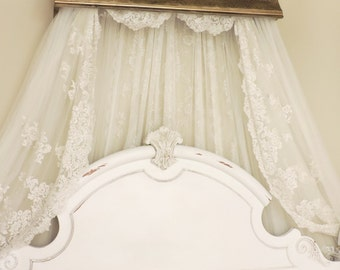 Bed Crown Canopy, Crib Crown Canopy, French Old World, Cornice, Bedroom wall decor