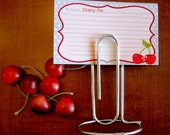 Paperclip Organizer - Large Paperclip Note Holder - Memo Holder - Card Holder - Recipe Card Holder - Photo Display - Mad Men Style Decor