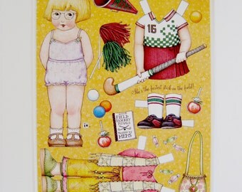 Mary Engelbreit Paper Dolls - Childs Room Decor Paper Dolls - Suitable for Framing Paper Doll Art - Ann Estelle Paper Doll Art