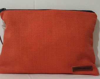 Orange Small Clutch Waterproof Interior Vintage Cowgirls