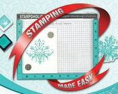 Stampoholic BIG - The Ultimate Stamping Tool - by Die Cuts & More - Perfect Positioner - use clear polymer and cling rubber stamps