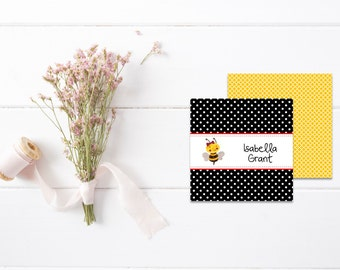 Mommy Calling Cards | Kids Calling Cards | Kids Gift Tags |Playdate Cards | Bee Gift Cards |  Personalized Gift Tags