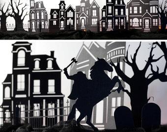 DIY Halloween Village, Instant Download Cutting Files