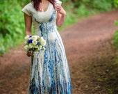 Bohemian wedding gown Tribal wedding dress Short wedding dress
