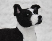 Staffordshire Bull Terrier, Needle Felted Dog, Custom Made Dog Staffordshire Terrier, Pit Bull Terrier or any other breed - made to order