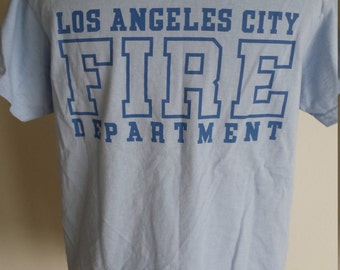 Women's LA Fire Dept/ Baby Blue Los Angeles County Fire/ Athletic Tee/ Graphic Tee/ To Serve & Protect