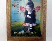 Fairy Art Collage, Faerie Art, Assemblage Art, Whimsical Art, Sometimes
