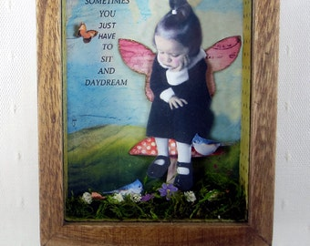 Fairy Art Collage, Faerie Art, Assemblage Art, Whimsical Art, Sometimes