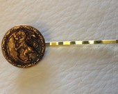 CAVIAR DREAMS Old World Victorian Lion Button Hair Bobby Pin - Etsy andersonhs