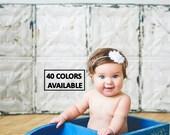 White Baby Headbands, Newborn Headband, Newborn Baby Headbands, Infant Headbands, Headbands for Babies, Headbands for Baby, Babies