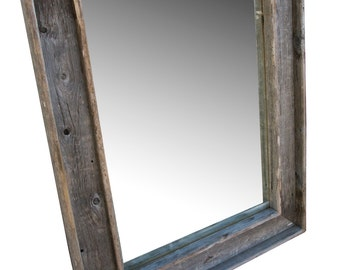 PRICE REDUCED LARGE Reclaimed Mirror and Fence Board Frame