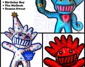 Custom Order for Sara: Birthday Boy, Mollusk, & Demon Sweat (w/ Music) !