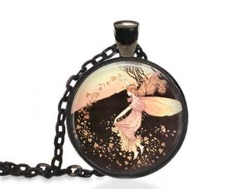 Fairy Pendant, Fairytale Princess Jewelry, Imagination Necklace [A67]