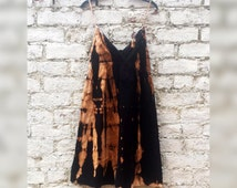 Tie Dye Summer Dress Boho Dress Tie Dye Black Hippie Boho Festival to fit UK Size 10 or US size 6 Summer Beach Hippie Boho Wedding Dresses