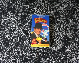 Who Framed Roger Rabbit VHS Tape. 80s Cult Classic Animated And Live Action 80s Kid Nostalgia Movie Vhs.