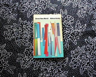 Brave New World by Aldous Huxley. 1963 RARE Time Inc. Paperback Vintage Book Prophetic Conspiracy Science Fiction. Retro Collectible Huxley