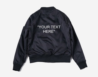 Customizable Personalized Bomber Jacket