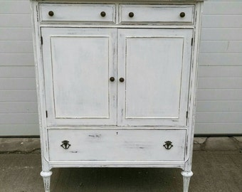 Vintage Dresser,Shabby Dresser,Distressed Dresser,Vintage Armoire,Farmhouse Armoire,Painted Furniture,Shabby Furniture,Farmhouse Furniture