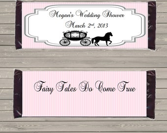 Customizable Printable Carriage Candy Bar Wrapper for 1.5 oz Hershey Bars