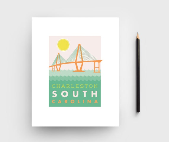 8x10 charleston ravenel bridge graphic print charleston for T shirt printing charleston sc