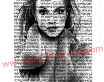 Britney Spears Dictionary Print