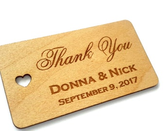 Wood Gift Tags, Wedding Favor Tags, Wooden Tags, Gift Tags, Rustic Wedding, Favor tags, Thank you tags, wooden thank you tag, Rustic Decor
