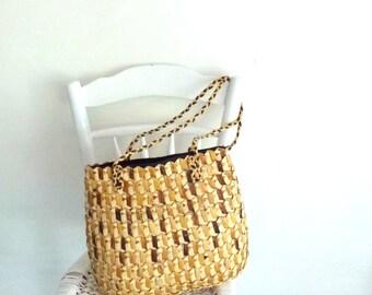 wicker shopper- wallet and bag