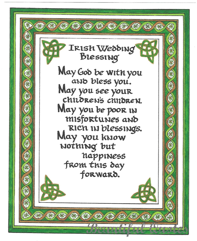 Irish Wedding Blessing Gifts: Irish Wedding Blessing Art Print/ Wedding By BeautifulQuotes