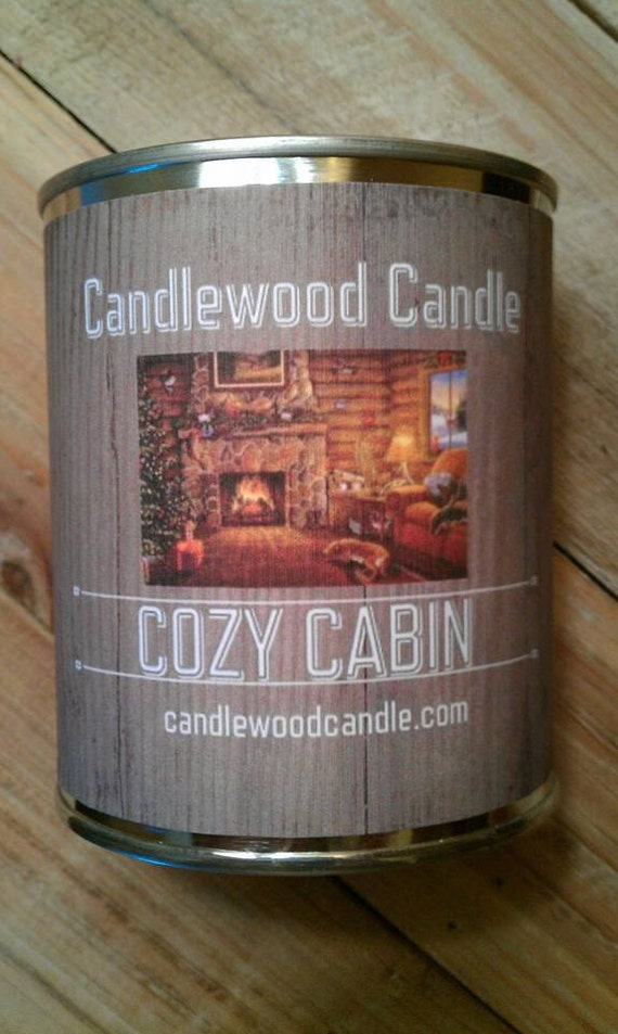 COZY CABIN -  PERSONALIZED Gift, Gift for Man, Gift for Woman,Custom Gift, Send your message, Free Shipping in United States 16 oz