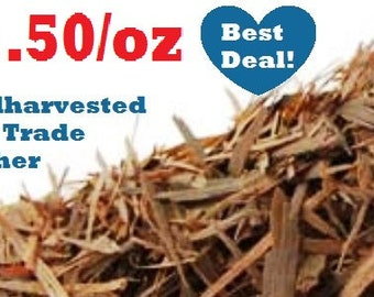 Wildharvested PAU d' ARCO - 1 oz - (Tabebuia impetiginosa) non-GMO, fair trade, kosher, certified 1 ounce