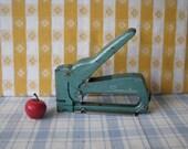 Swingline Stapler Tacker - Model 101 - Industrial - Teal - Vintage 1960's