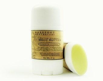 Restorative Herbal Body Balm. 2.5oz Lotion Bar. Jasmine and Lavender. Softening & Healing Herbal Formula, including Horsetail and Yarrow.