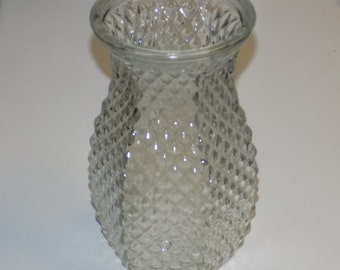 Vintage Hoosier Glass Clear Glass Vase 4071