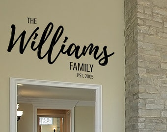Decals for Walls Family - Vinyl Decals for Walls Family - Decals for Walls Family Name
