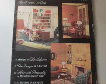 Vintage Better Homes and Garden Magazine April 1939
