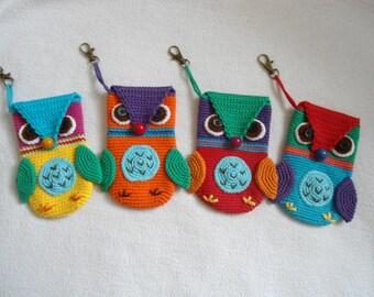 Owl phone case crochet pattern