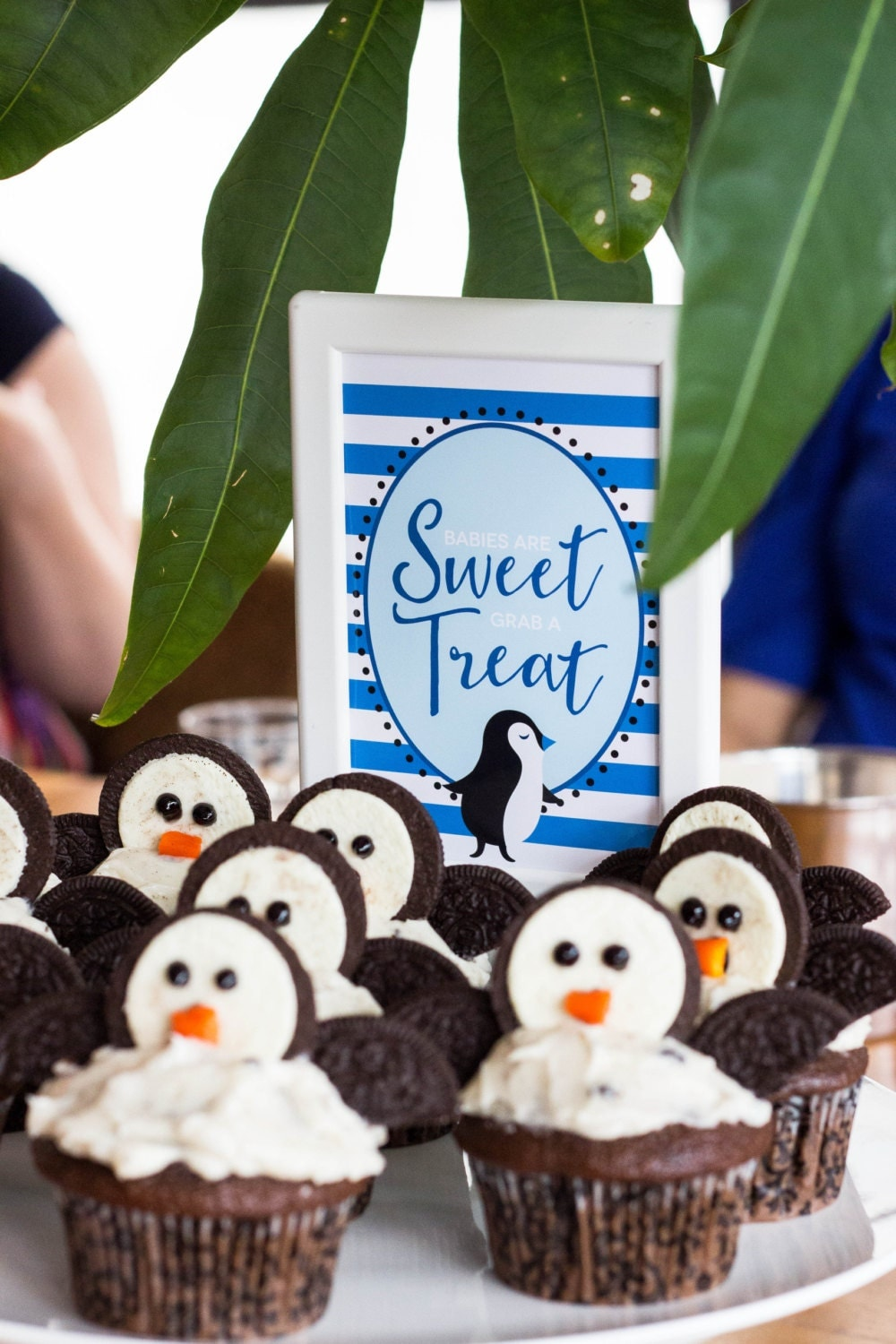 babies are sweet table sign penguin baby shower decor