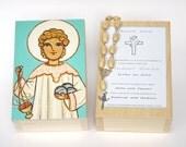 St Stephen box Saint Stephen box Steven Steve Baptism keepsake box Christening box Christening gifts First communion gift Confirmation gift