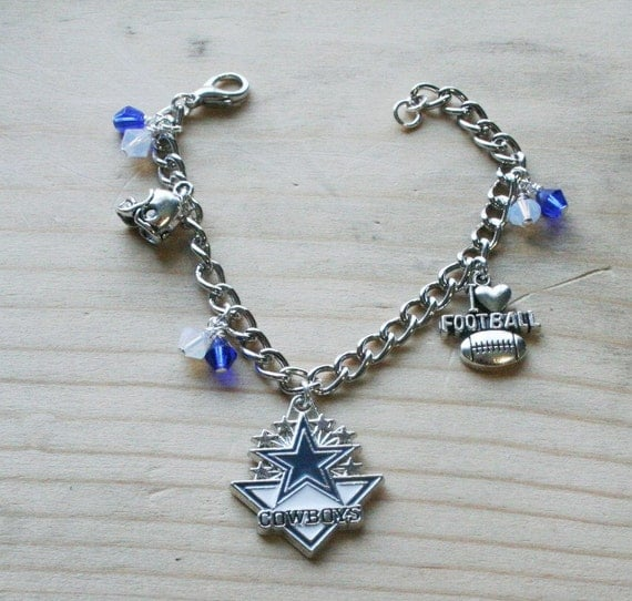 dallas cowboys charm bracelet dallas cowboys bracelet cowboys charm bracelet by 7609