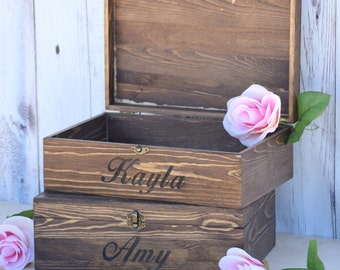 Will You Be My Bridesmaid Box Bridal Party Gift Bridesmaid Present Rustic Wedding Decor Bridal Party Gift - Bridesmaid Gift - Gift Box
