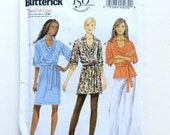 Butterick B5923, Women's Tunic, Top, Dress, Belt Pattern, Easy Pattern, Size Lrg, Xlg, Xxl, Uncut Pattern