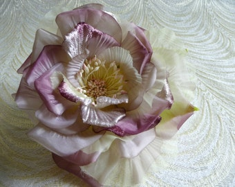Silk and Velvet Rose Plum Purple Pale Sage Green for Hats Fascinators Corsage Gowns 3FN0047G