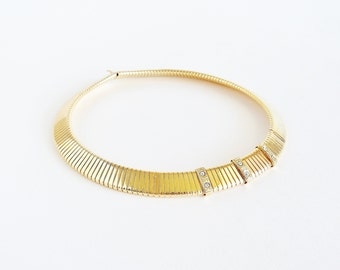 Golden Bars Flexible Collar Necklace