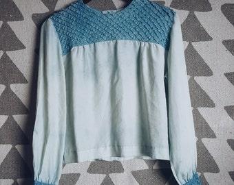 Vintage Lace Blouse in Indigo