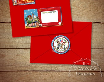 Toy Story Envelope Mailing Labels, Toy Story Return Address Labels, Toy Story Mailing Labels