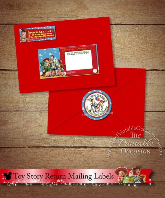 toy story envelope mailing labels toy story return With envelope mailing labels