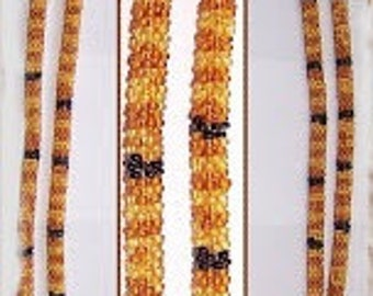 4 Beaded crochet necklace - necklace - Pearl - crochet chain